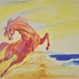 SASSU_Cavallo, acquarello, 48x67 cm