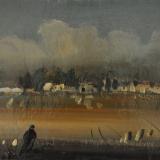 ANNIGONI_Paesaggio (deserto), olio su cartoncino, 20 x 30 cm