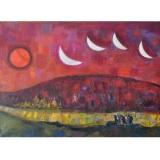 LONGARETTI_Viandanti nella vecchia Russia_1998_olio su tela_65 x 92 cm