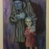 LONGARETTI_Vecchio mendicante e bambino, olio su tela, 81 x 54 cm