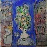 ROGNONI, Venezia, anni 80, olio su tela, 250 x 139 cm
