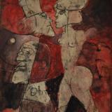 B&B 463_Notturno, olio su tavola, 55 x 46 cm