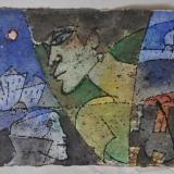 ROGNONI_Senza titolo (passante), tecnica mista su cartoncino, 25.5 x 35 cm