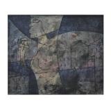 ROGNONI, Città e passanti, 1986, olio su tela, 46 x 55 cm