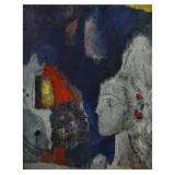 ROGNONI, La violetera, 1965, olio su tela, 100 x 81 cm