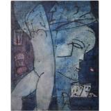ROGNONI, Interno Esterno, 1986, olio su tela, 41 x 33 cm