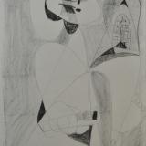 BIROLLI_Figura_1949_pastello su carta_65 x 47 cm