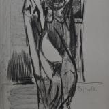 BIROLLI_Figure in piedi, 1947, tecnica mista su carta, 66 x 48.2 cm