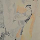 BIROLLI_Il tecchiatore_1952_tecnica mista su carta_70 x 50 cm