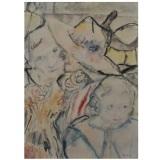 BIROLLI, Senza titolo, 1944, tecnica mista su carta intelata, 60 x 45 cm