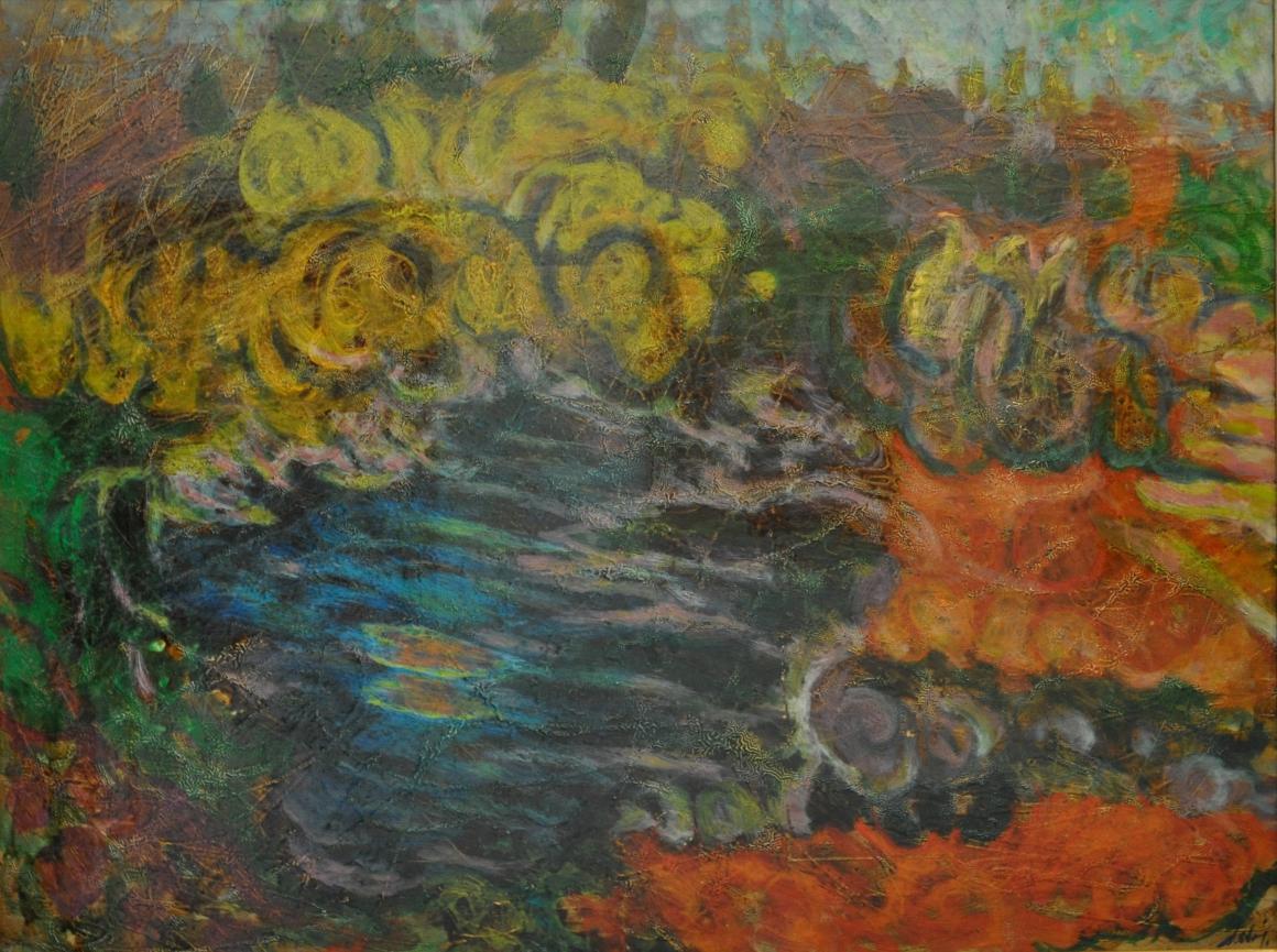 Dova_Giardino e piccolo stagno_olio tela_60x80cm