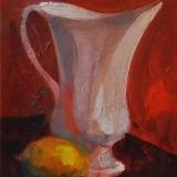 LONGARETTI_La brocca bianca_2013_olio su tela_30 x 20 cm
