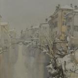 FERRARINI_Mantova Rio, 1980, acquerello, 46 x 34 cm