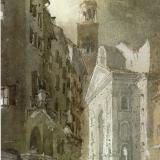FERRARINI_Mantova, scorcio di Sant'Andrea, 1994, acquerello, 55 x 34 cm