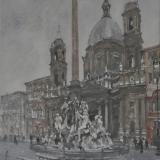 FERRARINI_Roma, 1998, acquerello, 39 x 42 cm