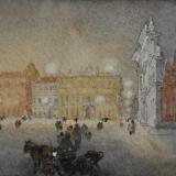 FERRARINI_Piazza Sordello, 2001, acquerello 26.5 x 56 cm