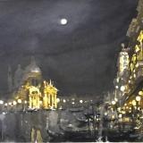 FERRARINI_Venezia notturno, 1996, acquerello, 27 x 38 cm