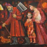 LONGARETTI_Famiglia dei viandanti, 2014, olio su tela, 140 x 175 cm