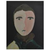 GUIDI, Figura, 1953, olio su tela, 40 x 30 cm