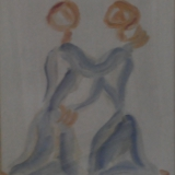 GUIDI_Incontro, 1969, olio su tela, 50 x 40 cm