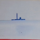 GUIDI_San Giorgio, 1970, olio su tela, 40 x 50 cm