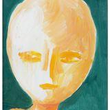 GUIDI_Testa su fondo verde, olio su tela, 40 x 30 cm
