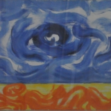 GUIDI_Uomo nello spazio, olio su tela, 70 x 90 cm