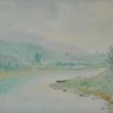 LILLONI_L'Adda a Brivio, 1946, olio su tela, 24 x 35 cm