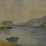 LILLONI_Paesaggio lacustre, 1938, acquerello, 35 x 45 cm