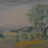 LILLONI_Quercia a Chianciano, 1947, olio su tela, 38 x 50 cm