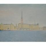 LILLONI_Stoccolma, 1948, olio su tela, 48 x 65 cm
