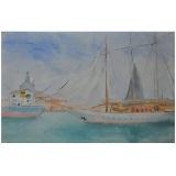 LILLONI_Venezia, 1947, olio su tela, 24 x 35 cm