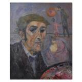 LONGARETTI_Il nonno pittore e la Checca, 1979, olio su tela, 65 x 50 cm