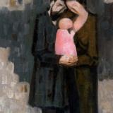 LONGARETTI_Si vogliono bene, 2005, olio su tela, 140 x 100 cm