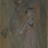 LONGARETTI_Vecchio e bambino, pastello su carta, 44 x 29.5 cm