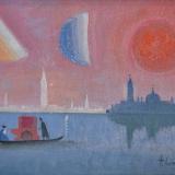 LONGARETTI_Viandanti a Venezia, 2006, olio su tela, 20 x 30 cm
