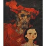 LONGARETTI_Vita e morte e piazza vecchia, 1978, olio su tela, 60 x 50 cm