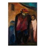 LONGARETTI_Ricordi del mio paese nel vicolo_1962_olio su tela_60 x 40 cm