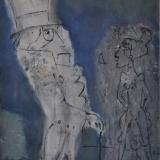 ROGNONI_Bonsoir Oscar, 1985, olio su tela, 55 x 46 cm