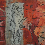 ROGNONI_Città, 1970, olio su tela, 46 x 55 cm