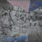ROGNONI_Città, tempera su carta intelata, 33 x 41 cm