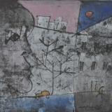 ROGNONI_Città, tempera su carta telata, 33 x 41 cm