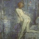 ROGNONI_Interno, 1984, olio su tela, 41 x 33 cm