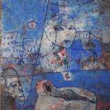 ROGNONI_Interno Esterno, 1994, tecnica mista su carta intelata, 55 x 46 cm