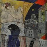 ROGNONI_Interno Esterno, olio su tela, 100 x 81 cm
