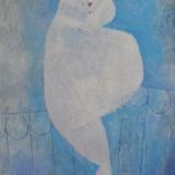 ROGNONI_Madame Claire Tulac, 1977, olio su tela, 100 x 81 cm