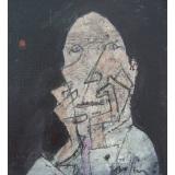 ROGNONI_Nel dubbio, 1997, olio su tela, 50 x 40 cm