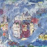 ROGNONI_Paese di sera, 1961, olio su tela, 50.5 x 61 cm