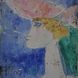 """ROGNONI_Ragazza ad Ascona, 1965, olio su tela, 56 x 46 cm. Pubblicato catalogo """"Franco Rognoni"""" - galleria d'arte Cavalletto Brescia"""