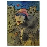 ROGNONI_Una passante, anni 60, tecnica mista su cartoncino, 36 x 26 cm